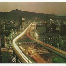 A NIGHT SCENE OF SAM-II OVERHEAD ROAD ~ KOREA VINTAGE COLOR POSTCARD UNUSED NEAR MINT 1979 #D11