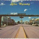 ELK HORN ARCH - AFTON WYOMING - VINTAGE COLOR POSTCARD 1981 UNUSED MINT # 626