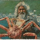 ALASKAN GIANT KING CRAB - VINTAGE ORIGINAL ALASKA JOE COLOR POSTCARD UNUSED NEAR MINT # 636