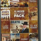 10 MOVIE WESTERN PACK VOL 2 ~ GODs GUN/VENGEANCE VALLEY/COWBOYS DONT CRY 2011 SEALED MINT