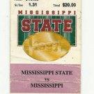 1997 MISSISSIPPI STATE VS OLE MISS FOOTBALL TICKET STUB 11/29/1997 GAME 7 # D23