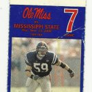 2000 OLE MISS VS MISSISSIPPI STATE FOOTBALL TICKET STUB 11/23 NOV 23 2000 #D 28