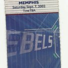 2002 OLE MISS vs MEMPHIS FOOTBALL TICKET STUB GAME 2 ~ SATURDAY SEPT 7 2002 #D31