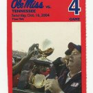 2004 OLE MISS REBELS VS TENNESSEE FOOTBALL TICKET STUB GAME 4 ~ OCT 16 2004 #D38