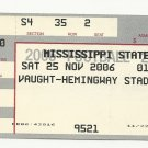 2006 MISSISSIPPI STATE vs OLE MISS EGG BOWL FOOTBALL TICKET STUB 11-22-2001 #D44