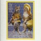 CATS CHAT AT SPA ...NOTHING NICE TO SAY...SIT WITH ME PRINT #03 JOHN LUND 2005 SEALED MINT