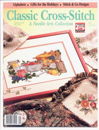 CLASSIC CROSS STITCH NEEDLE ARTS COLLECTION BACK ISSUE CRAFTS MAGAZINE SEPTEMBER 1991 MINT NOS