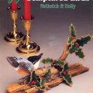 ANNIE'S ATTIC SCULPTURED BIRDS NUTHATCH & HOLLY 1992 PLASTIC CANVAS CRAFTS NEAR MINT