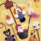 PLAY PALS WITH POM-PONS SUZANNE McNEILL DESIGNS CRAFT BOOK PATTERNS DISC NOS NMINT