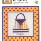 IN THE BAG ~ BRIGITTE ~ GREEN APPLE CO CROSS STITCH CRAFT LEAFLET 2004 NOS DISC MINT