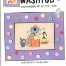 SUTHERN ACCENTS ~ WASHTUB ~ GREEN APPLE CO CROSS STITCH CRAFT LEAFLET 2002 DISC NOS MINT
