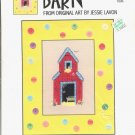 SUTHERN ACCENTS ~ BARN ~ CROSS STITCH LEAFLET BY GREEN APPLE CO CRAFT LEAFLET DISC NOS MINT