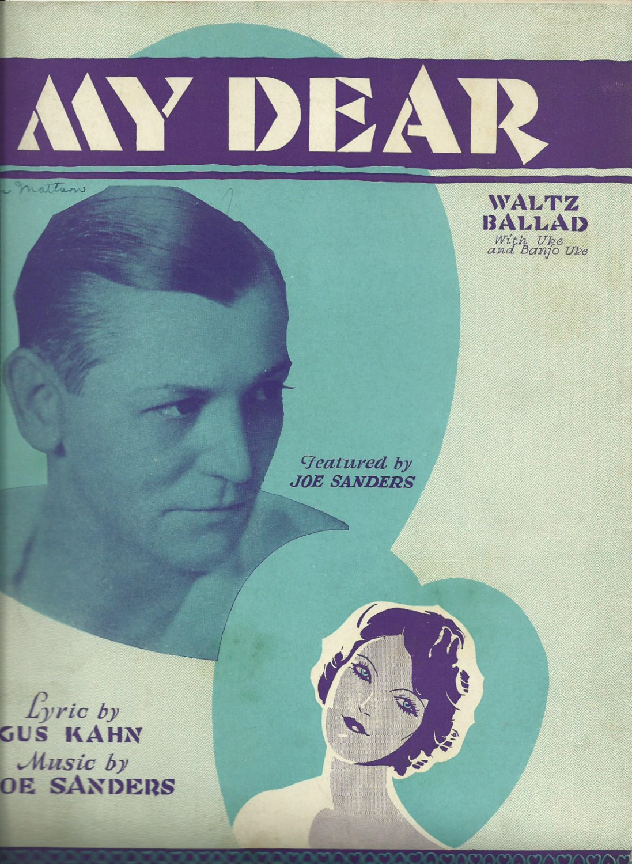 MY DEAR 1929 VINTAGE SHEET MUSIC WALTZ BALLAD w/ UKE & BANJO UKE NEAR MINT