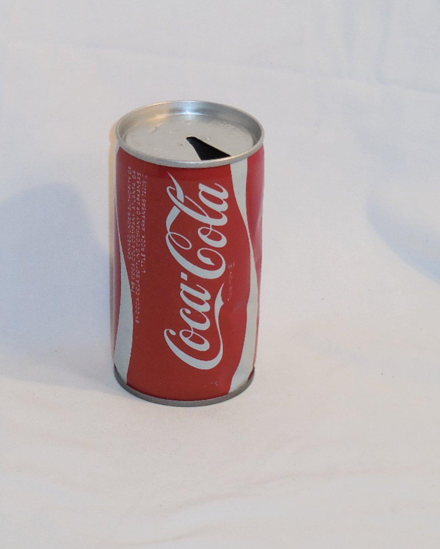 COCA COLA COKE CAN METAL STEEL 12oz LITTLE ROCK ARKANSAS CO. OPENED EMPTY D212