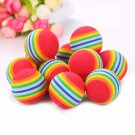 Rainbow ball rubber dog toy