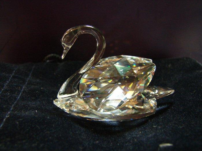 SWAROVSKI CRYSTAL SWAN 7633 NR 050 0000 with Gift Bag and Display Mirror