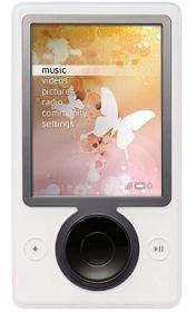 NEW Microsoft Zune Media Mp3 Player (30 GB, 7500 Songs) - White