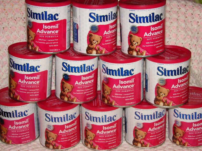 Lot of 12 Cans of  12.9oz Similac Isomil Advance Soy Baby Formula - $180 Retail Value