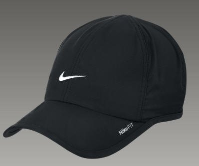 NEW Black NIKE FIT DRI FIT Feather Light Featherlite HAT CAP 595510 Running Tennis Baseball Golf