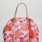NWT Coach Peyton Floral Cora Domed Satchel Handbag Pink Multi F31341 $358 Coated
