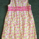 Lilly Pulitzer Yellow Pink Floral Tulip Aline Shift Lined Girl Dress Sz 6X EUC