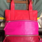 NWT Fossil Jean Tote Leather Vintage Bag Handbag SHB1096 Pink Satchel Purse Red