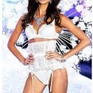 Victoria's Secret Dream Snow Angel Fashion Show 32DD Bra Garter Set M L New