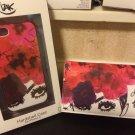 NWT IZAK Je Suis Fleur Iphone 5 5s Purse Wristlet Bag Plus Hard Case Bundle Set