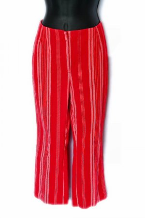 IE RELAXED funky RED STRIPED capri PANTS 6 small S