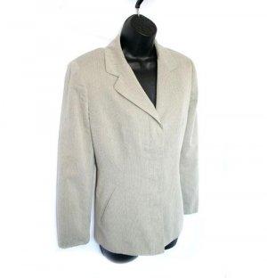 ANN TAYLOR hidden button TAN cream BLAZER jacket 8 M