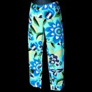 ZARA WOMAN bold BLUE capri PANTS US 4 EU 36 MEX 26 S small