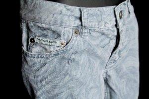 DKNY JEANS blue SWIRL corduroy PANTS 7 M medium LOW RISE