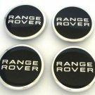 60 mm Range Rover Black Silver Hubcap Center Wheel Cap