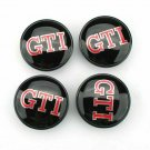 65mm GTI Black Red Hubcap Cover Wheel Center Caps
