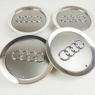 145mm Audi Gray Hubcap Cover Cap Center Cover Wheel Cover Set