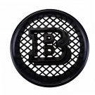 18.5 cm Brabus B All Black Front Replacement Grille Hood Emblem