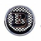 18.5 cm Brabus B Black Silver Front Replacement Grille Hood Emblem