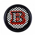 18.5 cm Brabus B Black Red Front Replacement Grille Hood Emblem