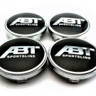 60mm ABT  Black Hubcap Center Wheel Cover Cap Set