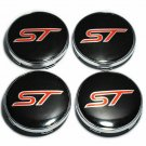 60mm Ford ST Hubcap Black Red Hubcap Wheel Cover Center Cap Set