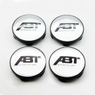60mm ABT Silver Black Hubcap Wheel Cover Center Cap Set