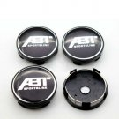 60mm ABT Black Hubcap Wheel Cover Center Cap Set