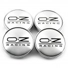 60mm OZ Racing Chrome Hubcap Wheel Cover Center Cap Set