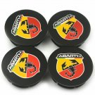 50mm FIAT Abarth Hubcap Wheel Cover Center Cap Set