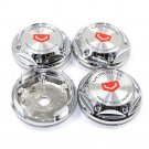 65mm Vossen Chrome Silver Hubcap Wheel Cover Center Cap Set