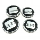 56mm Seat Black Hubcap Wheel Cover Center Cap Set