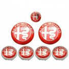Alfa Romeo 7 set Emblem Hub Cover Sticker Emblem Set
