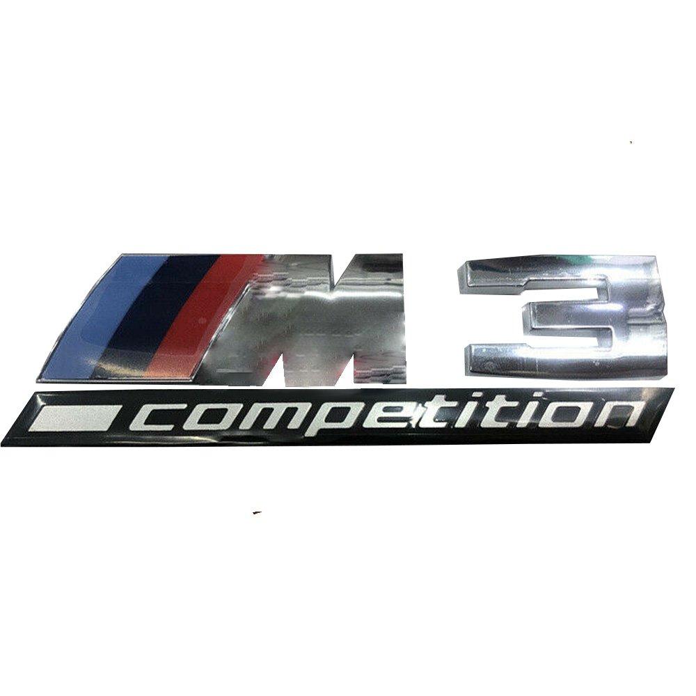 M3 Competition Silver Sticker Logo Emblem Trunk Side Back Sign
