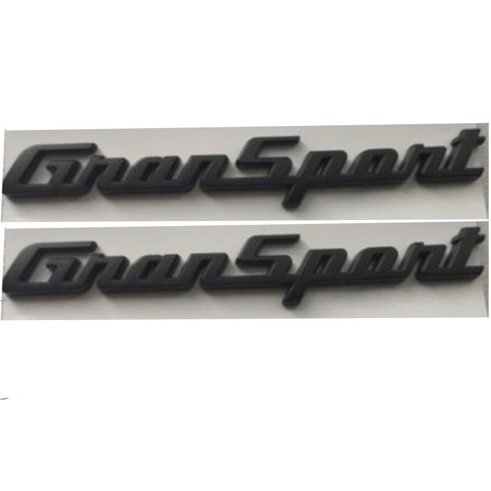 Maserati Gransport Black Matt Sticker Logo Emblem 3D Sign Side