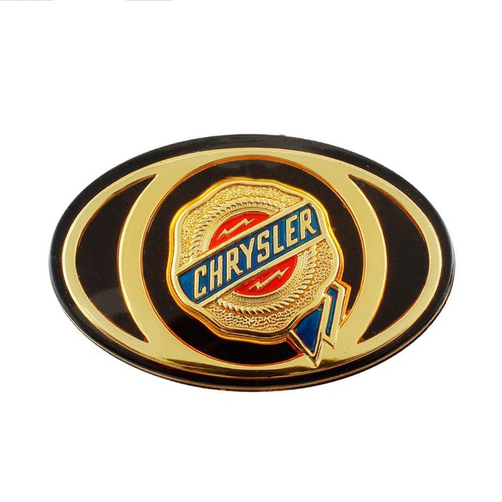 Chrysler Gold Emblem Sticker Logo Badge Fron